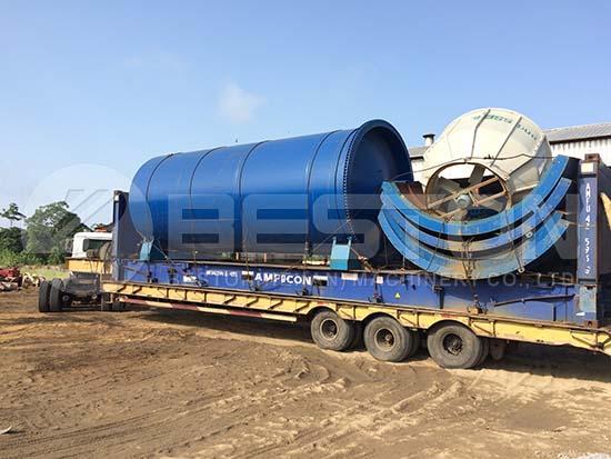 BLJ-16 Oil Sludge Pyrolysis Plant to Nigeria